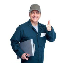 hvac technician giving a thumbs up